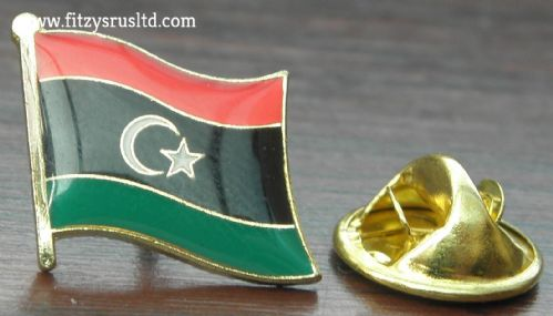 New Libya Flag Lapel Hat Cap Tie Pin Badge Tripoli Gift Souvenir State of Libya